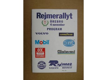 Rally Program Örebro Rejmerallyt 4/11 2000