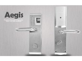 """Premium Biometric fingeravtrycks dörrlås med Deadbolt """"Aegis"""" även med nyckel - Hongkong - Premium Biometric fingeravtrycks dörrlås med Deadbolt """"Aegis"""" även med nyckel - Hongkong"""