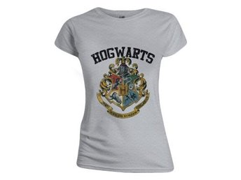 Harry Potter T-shirt Hogwarts Dam Grå XL