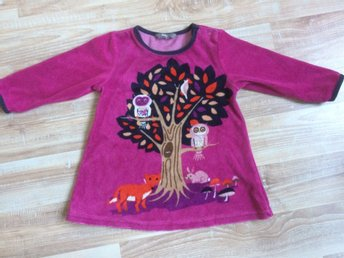 Kids by Lindex stl 86 plysch-tröja/tunika mönstrad, träd, ugglor, räv, svamp m - örbyhus - Kids by Lindex stl 86 plysch-tröja/tunika mönstrad, träd, ugglor, räv, svamp m - örbyhus