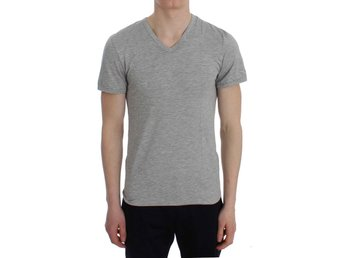 Ermanno Scervino - Gray Modal Stretch V-neck Underwear T-shirt