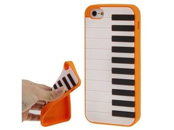 iPhone 5/5S Silikonskal Piano Orange