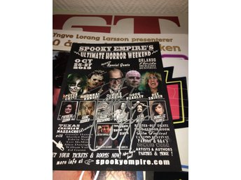 Kiss - Peter Criss signerad flyer för Spooky Empire expot