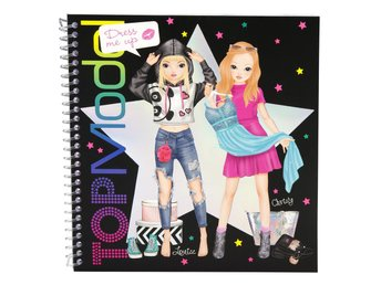 TOPModel Dress Me Up Stickersbok Pysselbok Louise & Christy