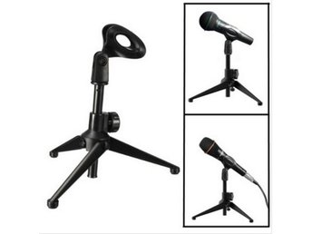Desktop Table Adjustable Metal Tripod Microphone Mic Stan...