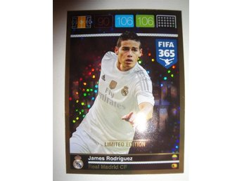 Panini Adrenalyn XL FIFA 365 - Limited Edition - JAMES RODRIGUEZ - Real Madrid