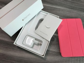 Apple iPad mini Wi-Fi cellular 16GB guld, rosa skärmskydd - I NYSKICK!