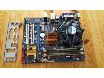 Moderkort,processor,minne intel socket 775