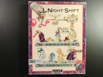 Night Shift till ATARI ST LucasArts Komplett Star wars - Torslanda - Night Shift till ATARI ST LucasArts Komplett Star wars - Torslanda