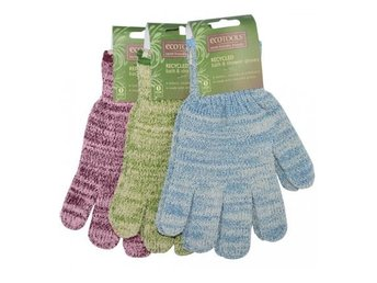 Eco Tools Recycled Bath And Shower Gloves Purple