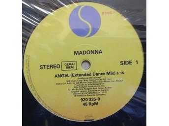 "Madonna title* Angel (extended dance mix)/Into The Groove  12""-maxi EU"