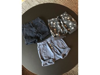 3 st shorts PoP, ZARA och HM stl 86