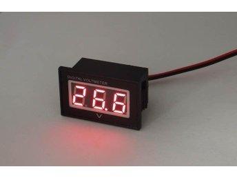 Voltmeter röd LED display 4,5 - 30V likspänning, vattentät - Kungälv - Voltmeter röd LED display 4,5 - 30V likspänning, vattentät - Kungälv