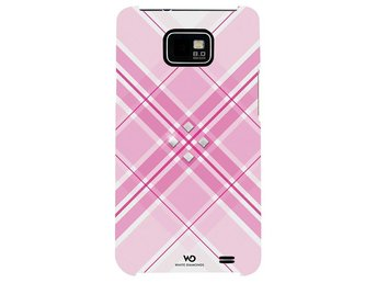 WHITE-DIAMONDS Grid Rosa Samsung Galaxy S2 Skal