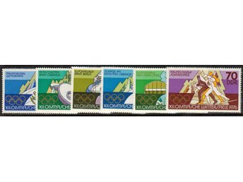 DDR Sommar OS i Montreal 6v.kpl/** 1976 - Nybro - DDR Sommar OS i Montreal 6v.kpl/** 1976 - Nybro
