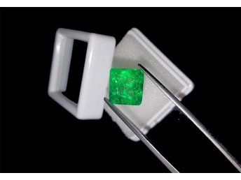 Natural 4.95 Ct Certified Square Shape Zambian Emerald Gemst