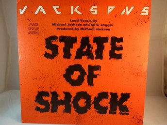 JACKSONS /MICK JAGGER - STATE OF SHOCK  (MAXI SINGLE-VINYL)