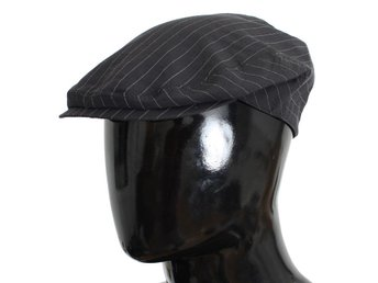 Dolce & Gabbana - Gray Striped Cotton Newsboy Cap