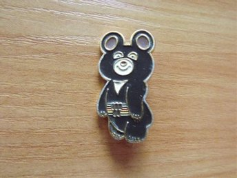 Ryssland badge medalj USSR pins 1980 Olympic Bear 6.