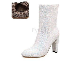 Dam Boots Calf Boots Autumn Winter Boots white velvet 42