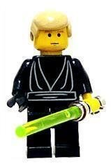 Lego - Star Wars - Figurer - Luke Skywalker Svart NY
