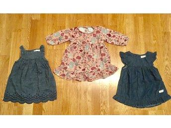 61e74bd6532a 3 klänningar Lindex Cubus Newbie storlek 68 (338405056) ᐈ Köp på ...