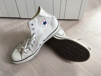 size 40 1c350 8affa Vita Converse All Star, strl 41,5