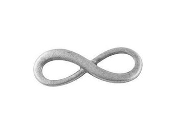 Connector liten infinity-symbol antik silver 25-pack