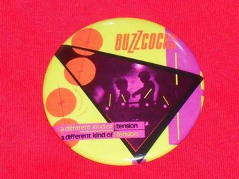 BUZZCOCKS - STOR Badge / Pin / Knapp (Punk, Roxy, Sex Pistols, Magazine,)