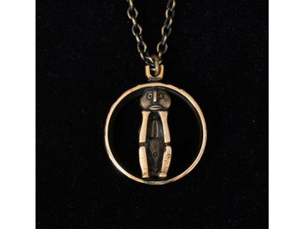 "Jorma Laine: vintage, modernist "" GROUCH "" bronze necklace, Turun Hopea, Finland"
