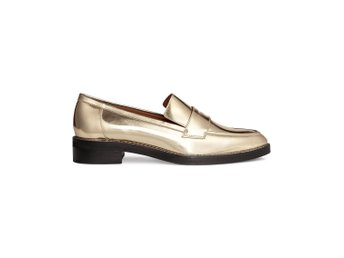 Premium Quality strl 39 Guldloafers HM nypris 599kr