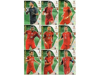 Panini Adrenalyn World Cup RUSSIA 2018 - PORTUGAL - 9 x Team mates