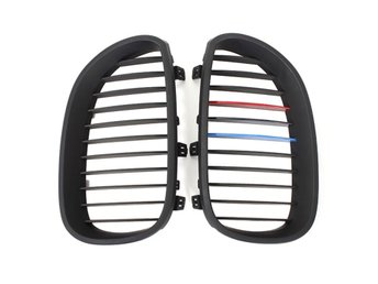 Matte Black Kidney Grille Grills For BMW E60 5 Series Sed...