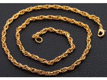 Oval 490 x 4 mm 18K guld fylld halsband - Halmstad - Oval 490 x 4 mm 18K guld fylld halsband - Halmstad