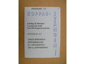 Rally Program Kopparberg Kopparsvängen 26/2 2005