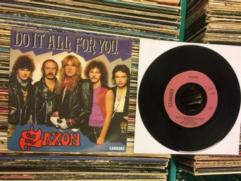 SAXON  DO IT ALL FOR YOU + JUST LET ME ROCK  OVANLIG SINGEL  FRANKRIKE 1984 !!!!