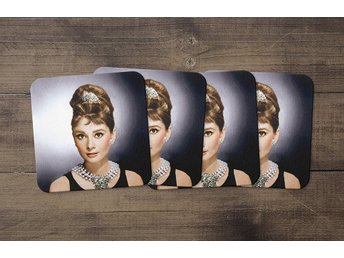 Audrey Hepburn Breakfast At Tiffanys Coasters 4 Pack Underlägg Underlag