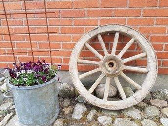 Gammalt vagnshjul. - Veberöd - Gammalt vagnshjul. - Veberöd