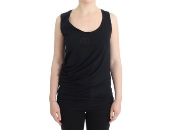 Cavalli - Black cotton tank top
