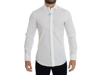Versace - White Striped Slim Fit Cotton Shirt