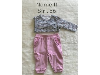 Name It set body och byxa i strl. 56 baby blommigt