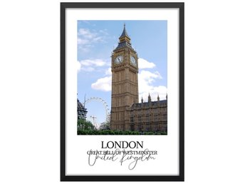 Affisch Poster London Big Ben Bell of Westminster 33x48
