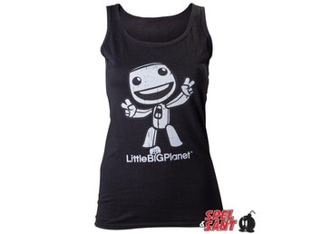 Little Big Planet Sack Boy Tjej Tanktop Svart (X-Large)
