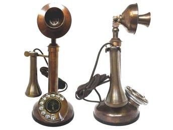 27 cm Tunga Mässing Nya Ljus Telefon med 1950 Mässingsdetaljer - Mumbai - 27 cm Tunga Mässing Nya Ljus Telefon med 1950 Mässingsdetaljer - Mumbai