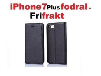 Fri frakt--iPhone 7 Plus---Plånbok , Praktiskt Fodral / skal SVART - Hägersten - Fri frakt--iPhone 7 Plus---Plånbok , Praktiskt Fodral / skal SVART - Hägersten