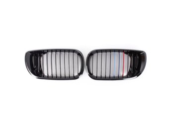 Front Gloss Black M-color Kidney Grille Grill For BMW 3Se...