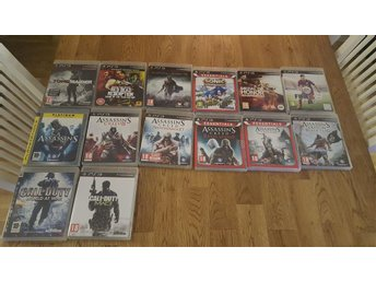 Playstation 3 Basenhet 14 Spel Assassins Creed Fifa15 C.O.D