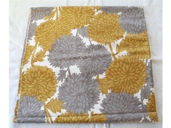 vintage tyg gul grå 50 tal - Mörbylånga - vintage tyg gul grå 50 tal - Mörbylånga