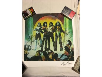 Kiss - Love Gun print Ken Kelly signerad x 3