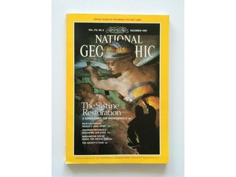 National Geographic vol. 176, no. 6 December 1989,  English, Sistine Chapel...